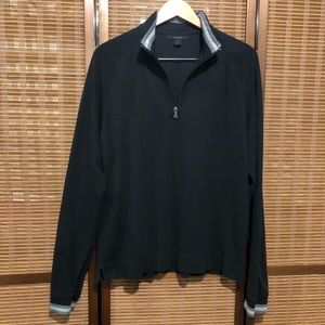 Express 1/4 zip navy blue sweater size Large